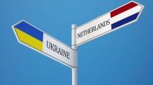Ukraine Netherlands High Resolution Sign Flags Concept
