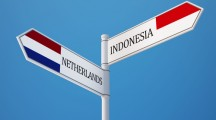 Indonesia Netherlands High Resolution Sign Flags Concept